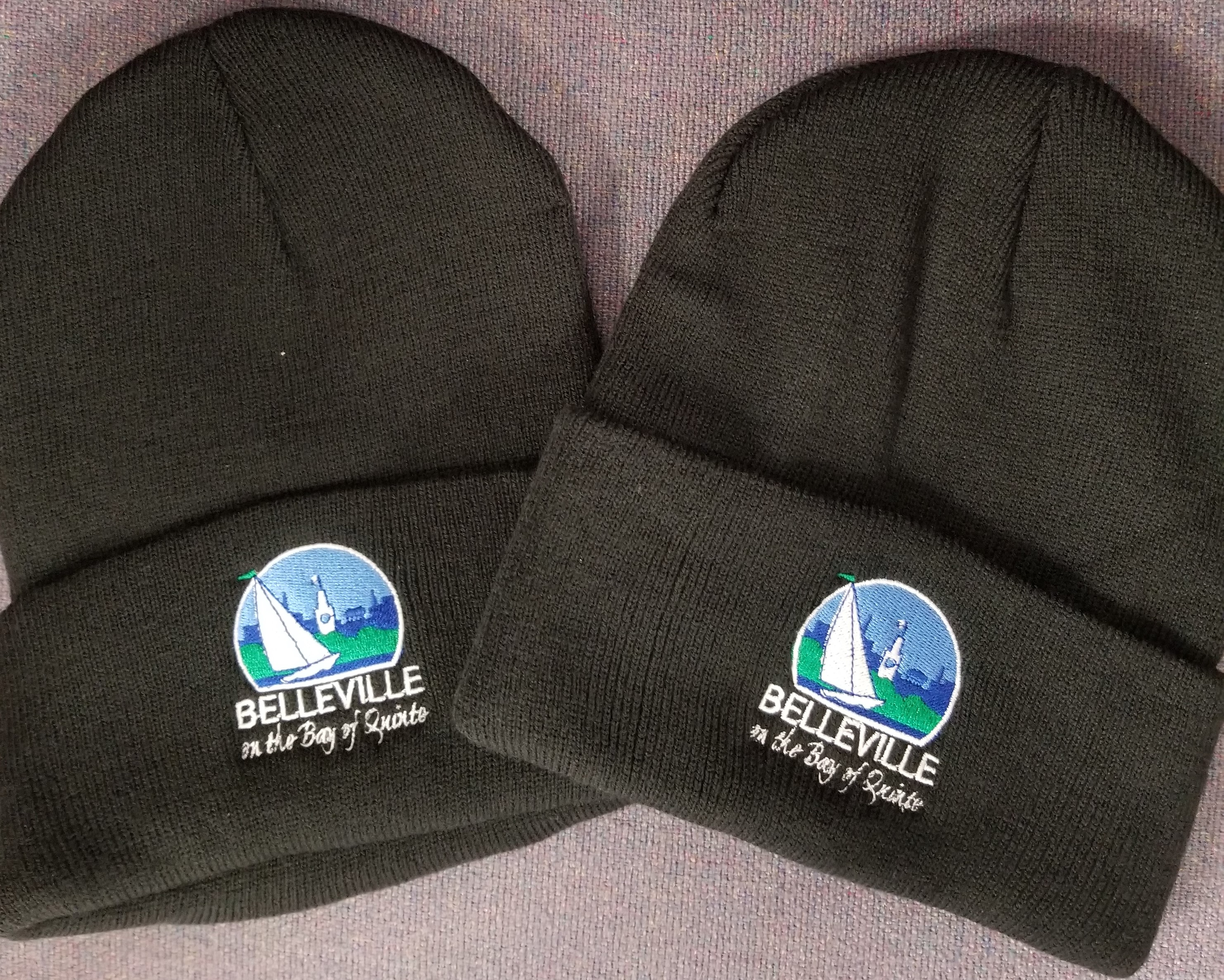 City of Belleville winter toques with the City logo on the front.