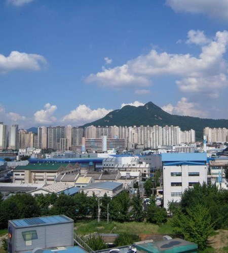 Cityscape of Gunpo South Korea.