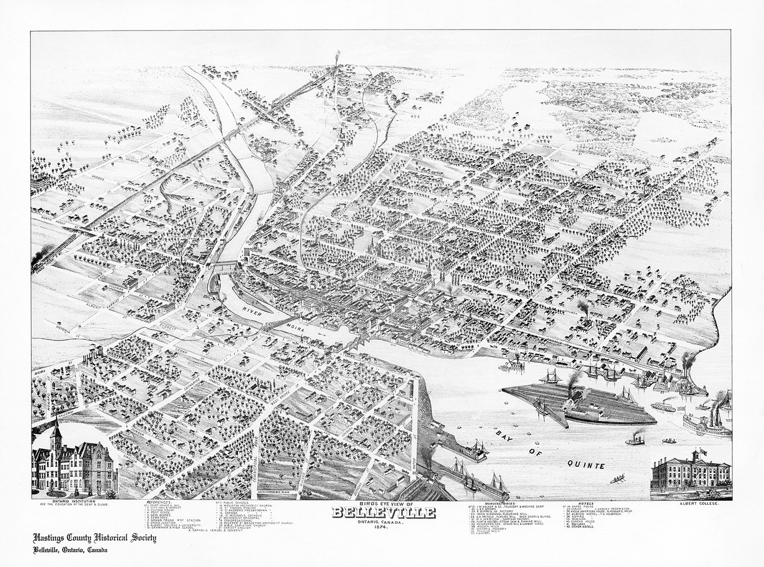 1874 map of Belleville