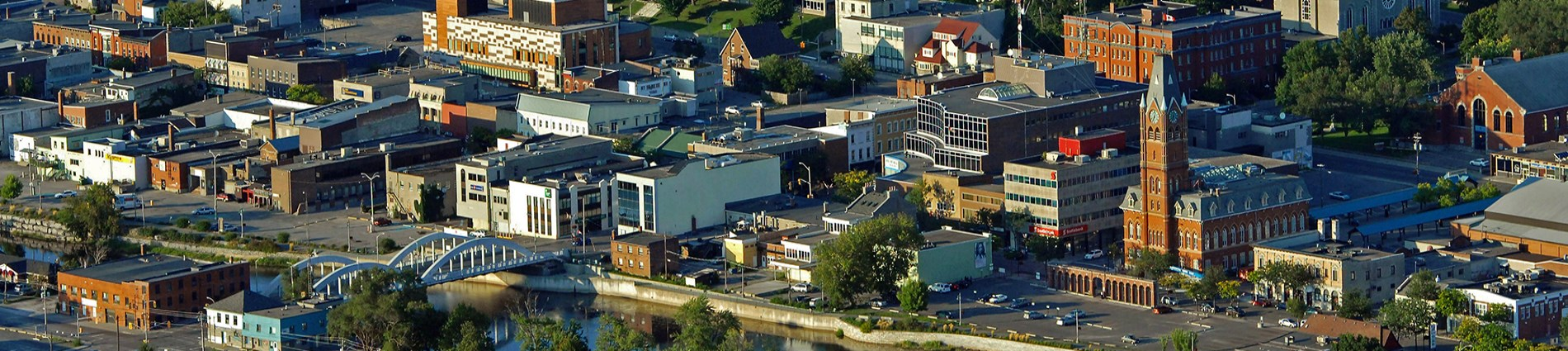 Aerial of downtown Belleville