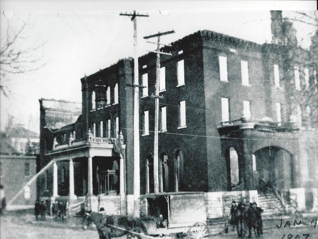 first fire at Hotel Quinte, January 4, 1907