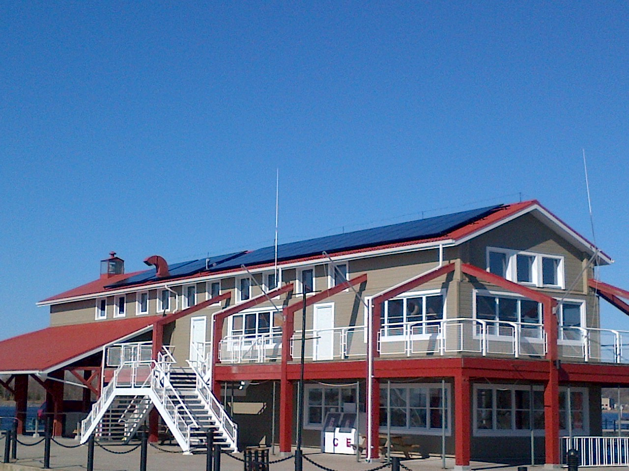 Rooftop solar panels at Meyers Pier