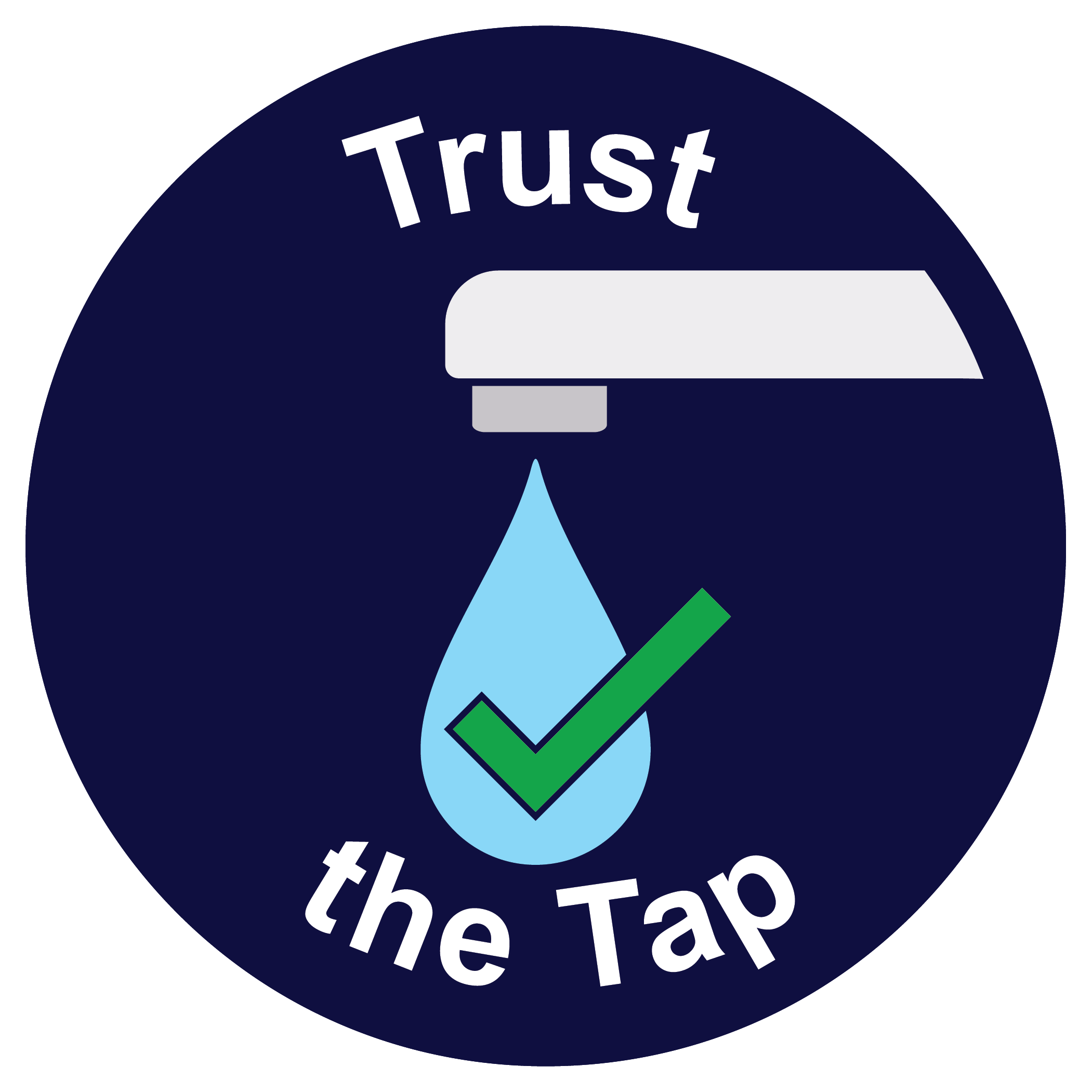 Logo for Trust the Tap initiative