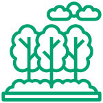 Icon of trees and clouds