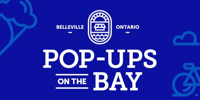 Pop ups on the bay banner