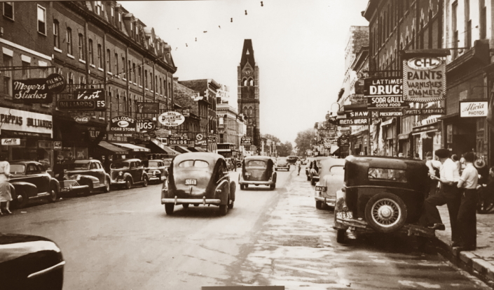 Downtown Belleville circa 1950