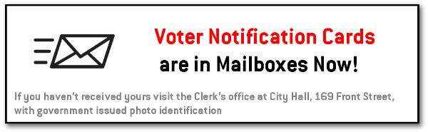 Voter notification Cards are in the mail
